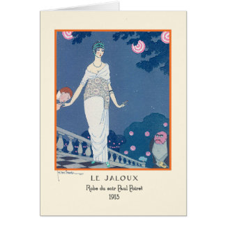 Georges Lepape Vintage Art Deco Fashion Le Jaloux Card