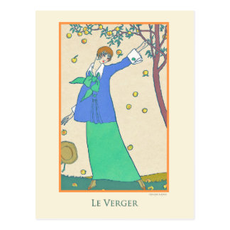 Georges Lepape Vintage Art Deco Fashion Le Verger Postcard