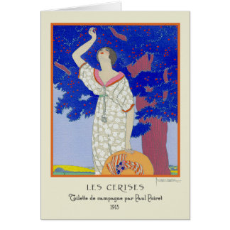 Georges Lepape Vintage Art Deco Fashion Les Cerise Card