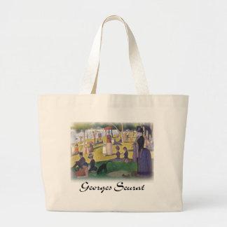 Georges Seurat - A Sunday on La Grande Jatte Jumbo Tote Bag