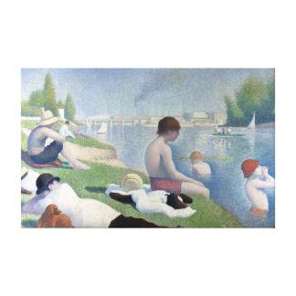 Georges Seurat Bathers at Asnières Canvas Print