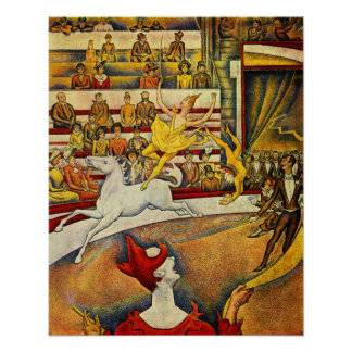 Georges Seurat - Der Zirkus - Circus Poster
