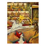 Georges Seurat - Der Zirkus - cirque Cartes Postales
