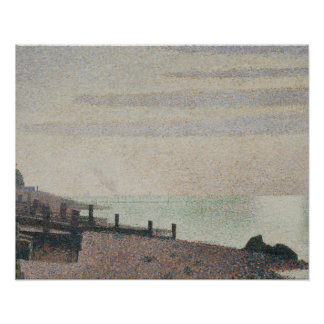 Georges Seurat - Evening, Honfleur Poster