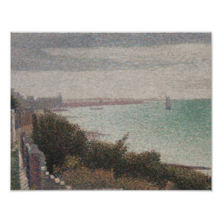 Georges Seurat - Grandcamp, Evening Poster