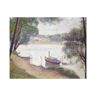 Georges Seurat Gray Weather, Grande Jatte Canvas Print