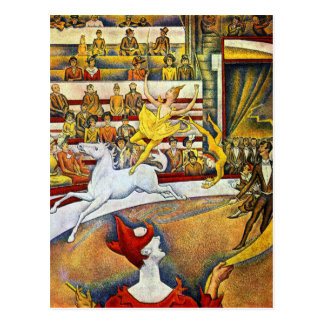 Georges Seurat - le cirque Cartes Postales