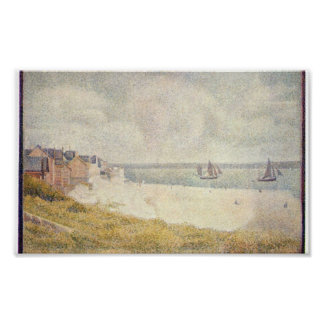 Georges Seurat - Le Crotoy downstream Poster