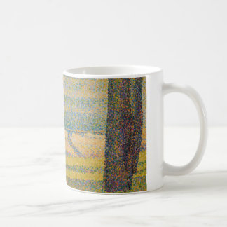 Georges Seurat - Moored Boats and Trees Classic White Coffee Mug
