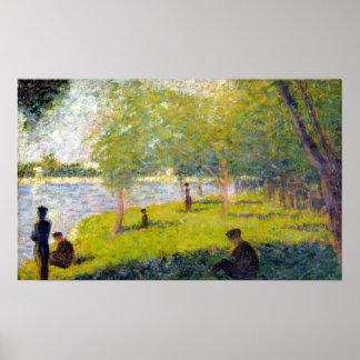 Georges Seurat Study for A Sunday La Grande Jatte Poster