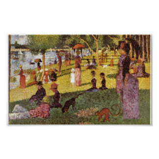 Georges Seurat - Sunday afternoon in the Island Poster