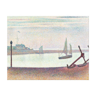 Georges Seurat The Channel at Gravelines, Evening Canvas Print