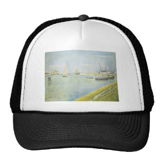 Georges Seurat- The Channel at Gravelines Mesh Hat