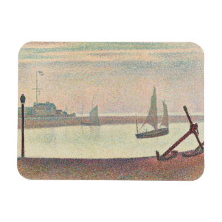 Georges Seurat - The Channel at Gravelines Rectangular Photo Magnet