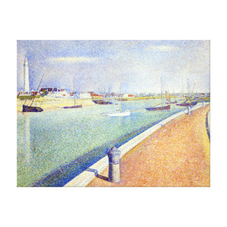 Georges Seurat The Channel of Gravelines, Petit Canvas Print