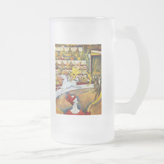 Georges Seurat - The Circus 16 Oz Frosted Glass Beer Mug