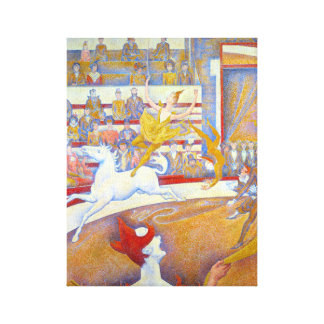 Georges Seurat The Circus Le Cirque Canvas Print