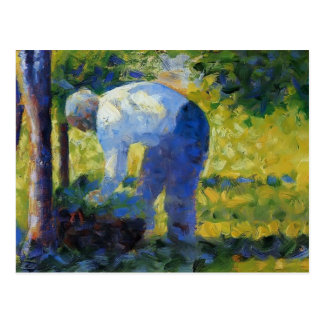 Georges Seurat- The Gardener Postcard