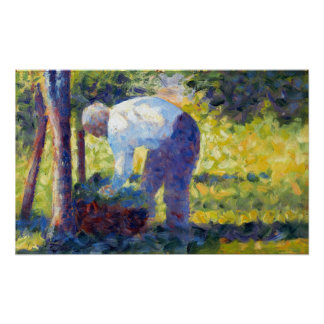 Georges Seurat The Gardener Poster