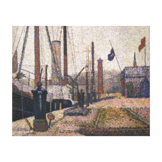 Georges Seurat The Maria at Honfleue Canvas Print