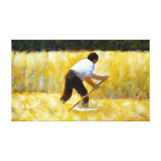 Georges Seurat The Mower Canvas Print