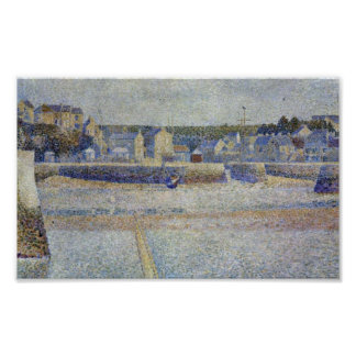 Georges Seurat - The outer harbor at low tide Poster