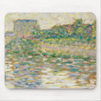 Georges Seurat - The Seine at Courbevoie Mouse Pad