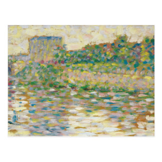 Georges Seurat - The Seine at Courbevoie Postcard