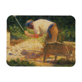 Georges Seurat - The Stone Breaker Rectangular Photo Magnet