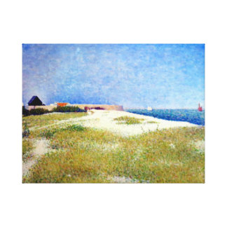 Georges Seurat View of Fort Samson Canvas Print