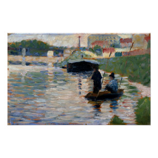 Georges Seurat View of the Seine Poster