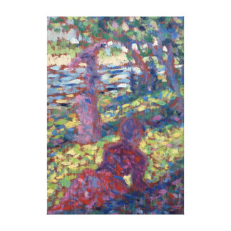 Georges Seurat Woman in a Park Canvas Print