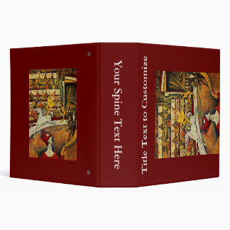 Georges Seurat's The Circus (1891) 3 Ring Binders