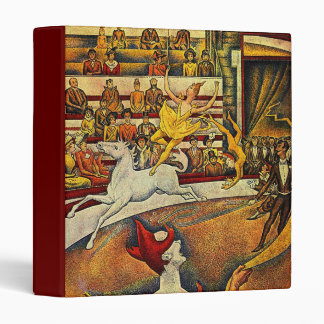 Georges Seurat's The Circus (1891) - Clown & Rider 3 Ring Binder
