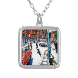 georges st dublin silver plated necklace