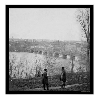 Georgetown and the Aqueduct Bridge 1865 Poster