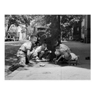 Georgetown Boys, 1930s Postcard
