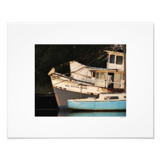 Georgetown Harbor Abandoned Boats Photo Print