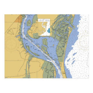 Georgetown, South Carolina Nautical Chart Postcard