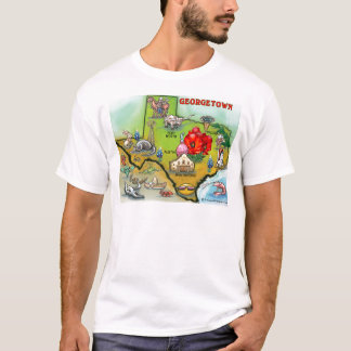 Georgetown Texas Cartoon Map T-Shirt