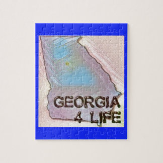 """Georgia 4 Life"" State Map Pride Design Jigsaw Puzzle"