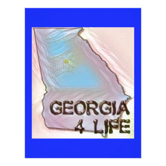 """Georgia 4 Life"" State Map Pride Design Letterhead Template"