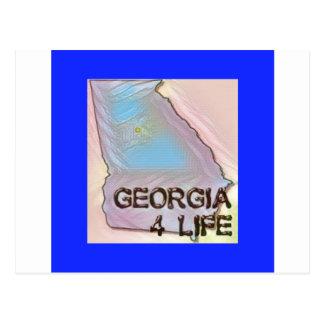 """Georgia 4 Life"" State Map Pride Design Postcard"