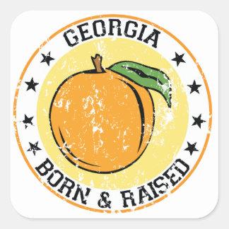 Georgia Born and Raised Square Sticker