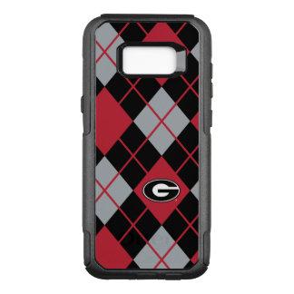 Georgia Bulldogs Logo | Argyle Pattern OtterBox Commuter Samsung Galaxy S8+ Case