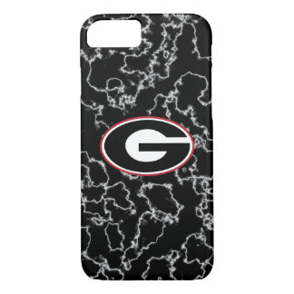 Georgia Bulldogs Logo | Black Marble Case-Mate iPhone Case