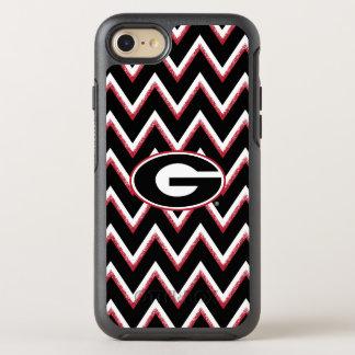 Georgia Bulldogs Logo | Chevron Pattern OtterBox Symmetry iPhone 8/7 Case