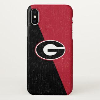 Georgia Bulldogs Logo | Distressed iPhone X Case