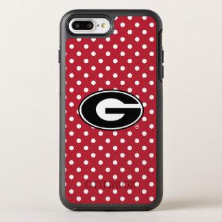 Georgia Bulldogs Logo | Polka Dot Pattern OtterBox Symmetry iPhone 8 Plus/7 Plus Case