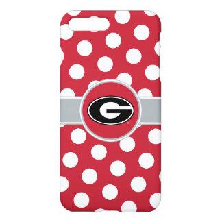 Georgia Bulldogs Logo | Polka Dots iPhone 8 Plus/7 Plus Case